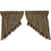 Black Star Scalloped Prairie Swag Set of 2 36x36x18