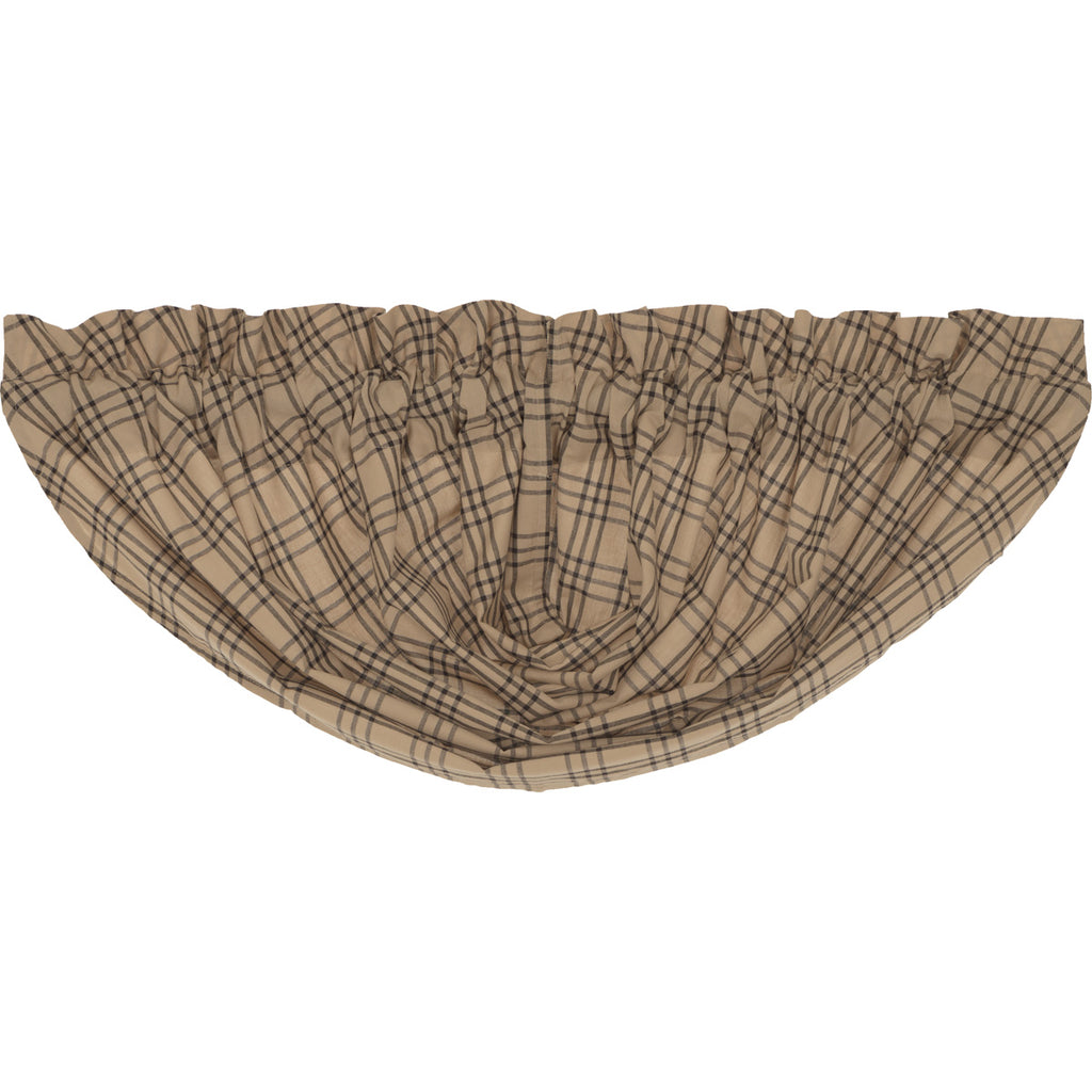 Sawyer Mill Charcoal Plaid Balloon Valance 15x60