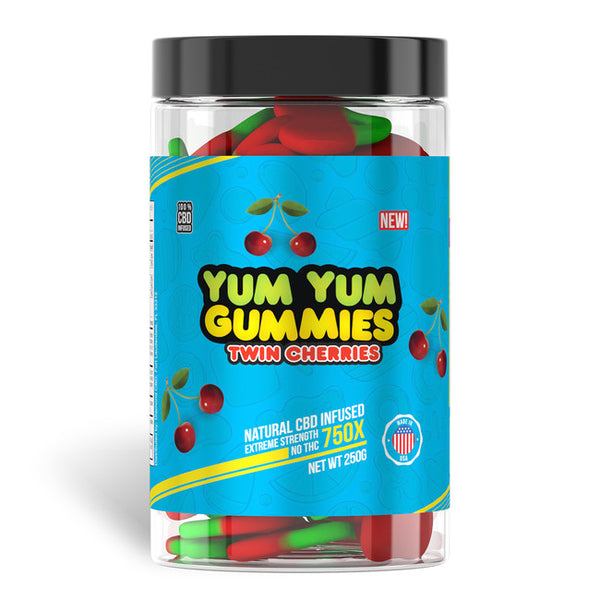 YUM YUM GUMMIES CBD FULL SPECTRUM TWIN CHERRIES