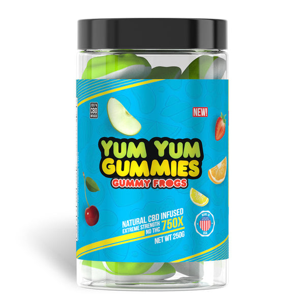 YUM YUM GUMMIES CBD FULL SPECTRUM GUMMY FROGS - 750MG