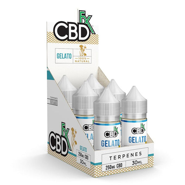 CBDFX CBD TERPENE INFUSED E-LIQUID GELATO