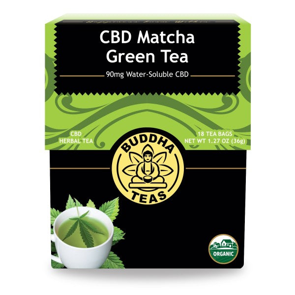 BUDDHA TEAS CBD MATCHA GREEN TEA BLEND 5MG PER TEA BAG (90MG) - 18PCS