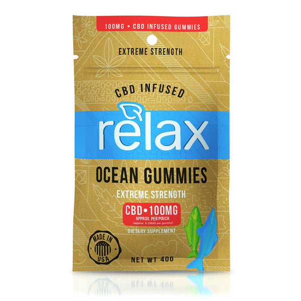 RELAX GUMMIES CBD INFUSED OCEAN GUMMIES - 100MG