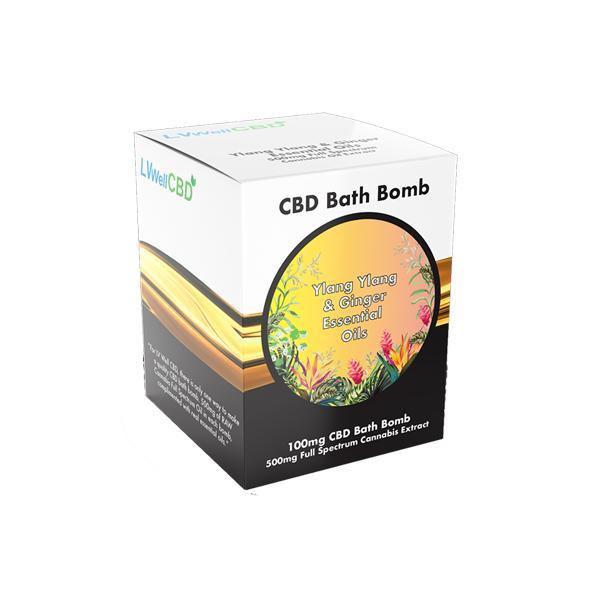 LVWell CBD 100mg CBD Bath Bomb - Ylang Ylang and Ginger