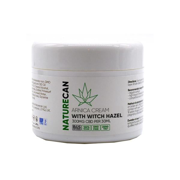 NATURECAN CBD ARNICA CREAM WITH WITCH HAZEL 300MG - 30ML