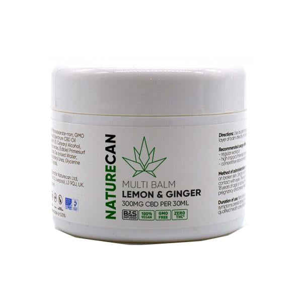 NATURECAN CBD LEMON & GINGER MULTI BALM 300MG - 30ML