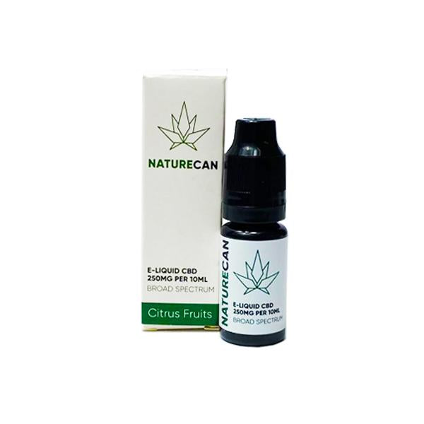 NATURECAN CBD FLAVOURED E-LIQUID 250MG - 10ML