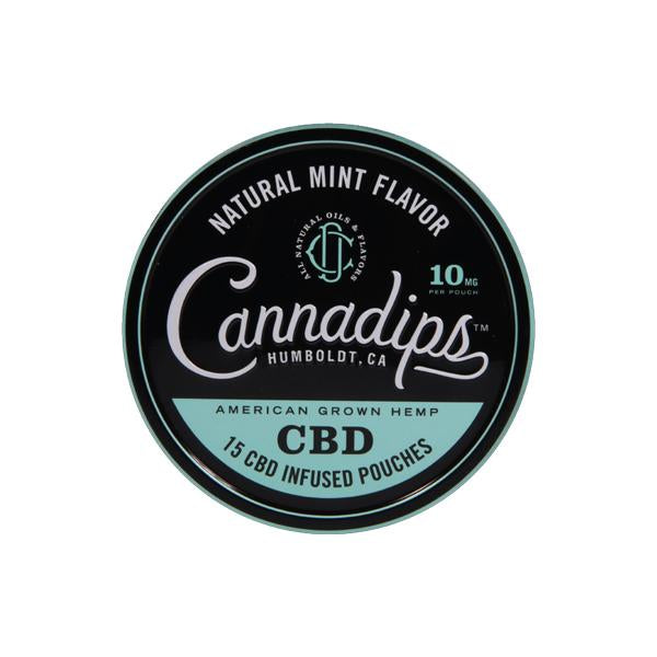 CANNADIPS CBD NATURAL MINT SNUS POUCHES - 150MG