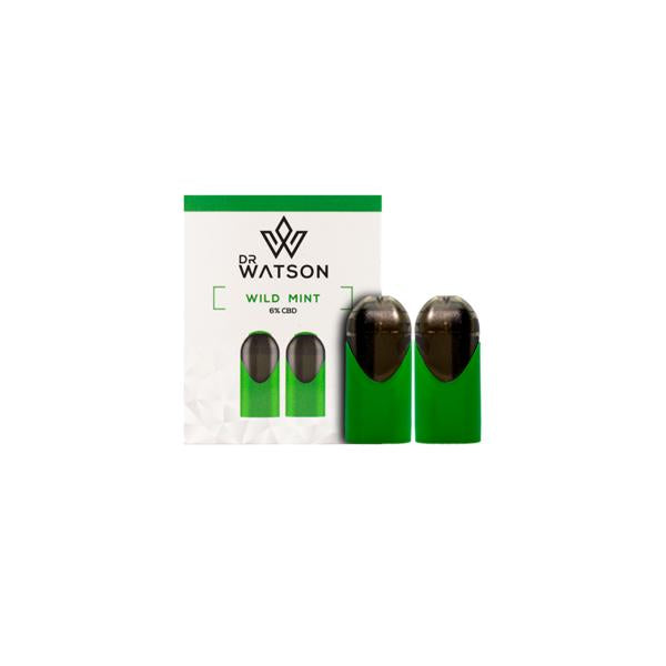 DR WATSON CBD FLAVOURED E-LIQUID  VAPE KIT PODS 120MG - X 2