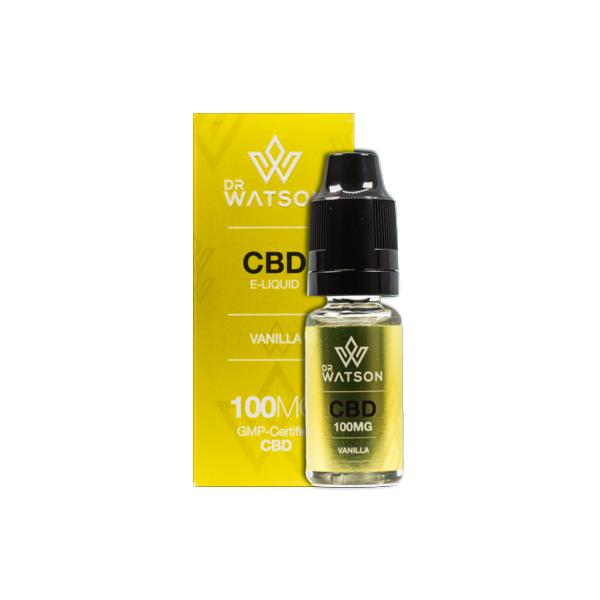 DR WATSON CBD FLAVOURED E-LIQUID 100MG - 10ML