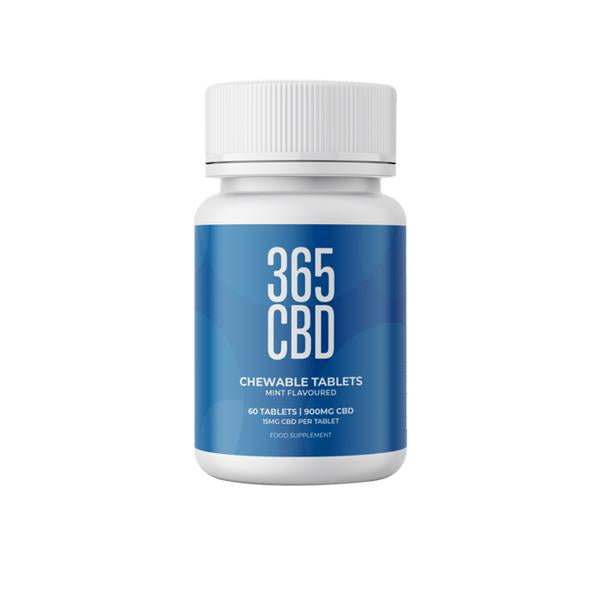 365 CBD Chewable Tablets 900mg CBD 60 Tablets