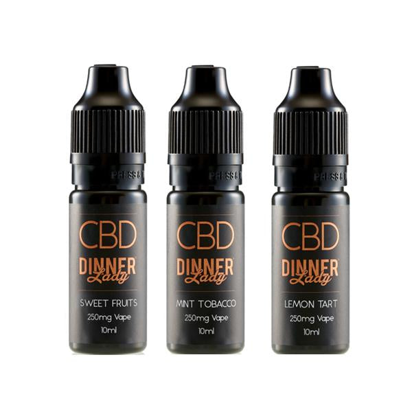 DINNER LADY CBD FLAVOURED E-LIQUID 500ML - 10ML