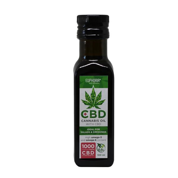 EUPHORIA CBD RAW HEMP OIL 1000MG - 100ML