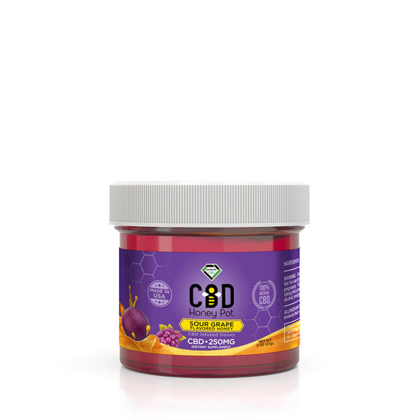 DIAMOND CBD INFUSED SOUR GRAPE HONEY POT - 250MG