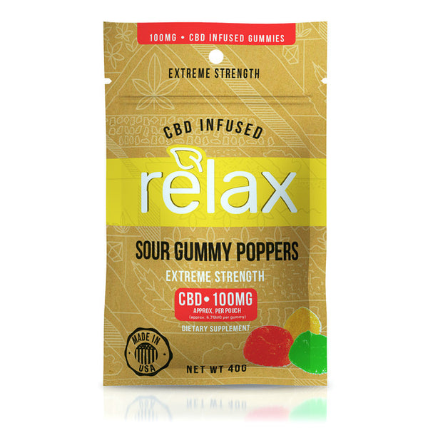 RELAX GUMMIES CBD INFUSED POPPERS - 100MG RELA10 £14.99 £14.99 £14.99 100mg, CBD Gummies, Relax, £10 - £20 CBD EDIBLES RELAX Title Default  cbdwellnesscentre.co.uk