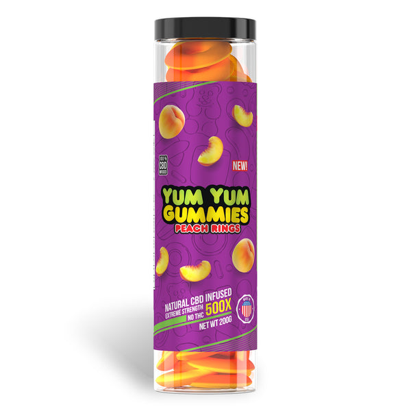 YUM YUM GUMMIES CBD FULL SPECTRUM PEACH RINGS