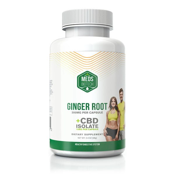MEDS BIOTECH CBD GINGER ROOT CAPSULES - 500MG