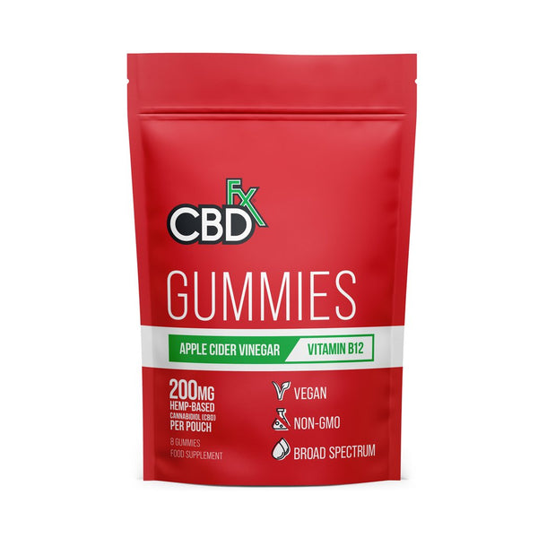 CBDFX APPLE CIDER VINEGAR GUMMIES 200MG - 8CT