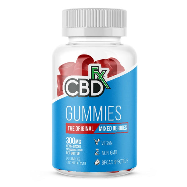 CBDFX CBD VEGAN GUMMY ORIGINAL MIXED BERRY 300MG - JAR OF 60