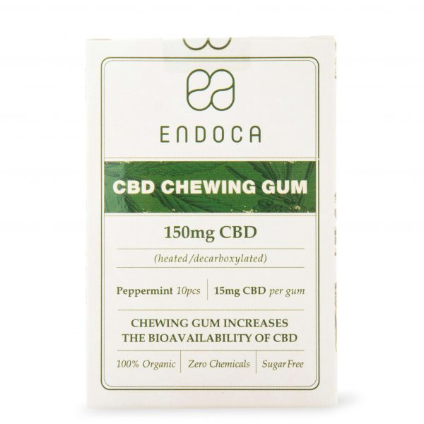 ENDOCA PEPPERMINT CBD CHEWING GUM - 10 PACK
