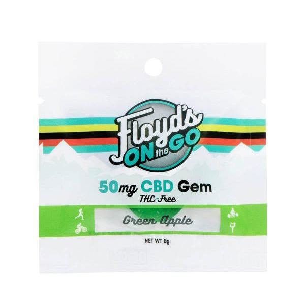 FLOYDS ON THE GO CBD GREEN APPLE GEM - 50MG