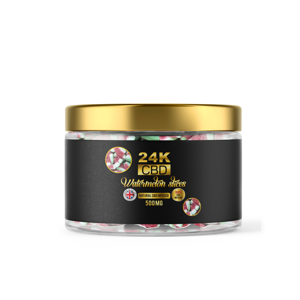 24K CBD PREMIUM GUMMIES WATERMELON SLICES  - 500MG