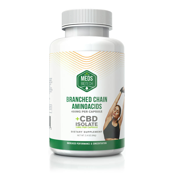 MEDS BIOTECH CBD BRANCHED CHAIN AMINO ACID CAPSULES - 500MG