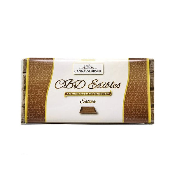 CANNASSEURS CBD INFUSED MILK CHOCOLATE BAR (SATIVA) CANN12 £19.99 £19.99 £19.99 1000mg, Cannasseurs, CBD Chocolate, £10 - £20 CBD EDIBLES CANNASEURS Title Default  cbdwellnesscentre.co.uk