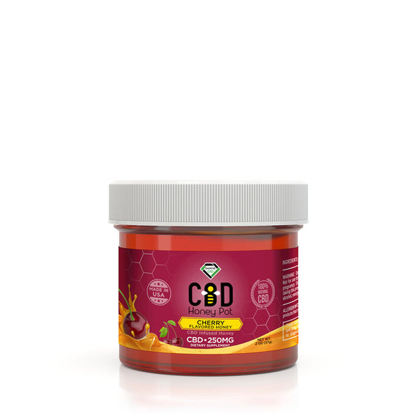 DIAMOND CBD INFUSED CHERRY HONEY POT - 250MG