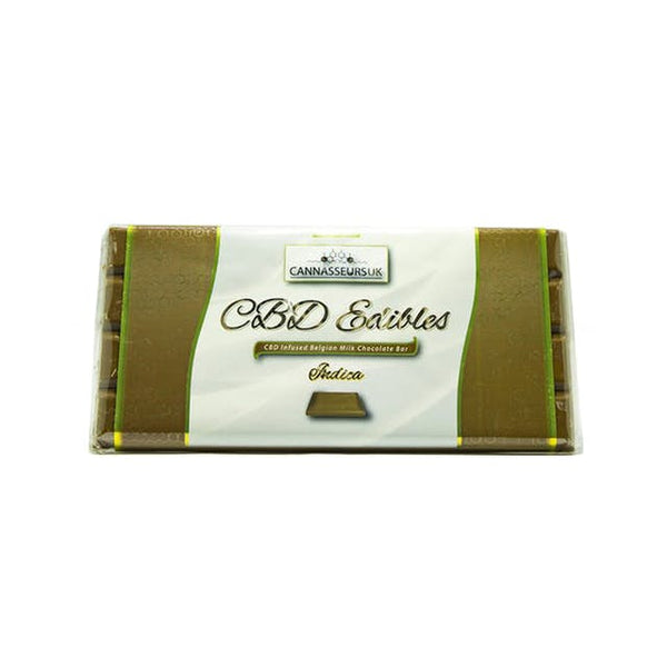 CANNASSEURS CBD INFUSED MILK CHOCOLATE BAR (INDICA)