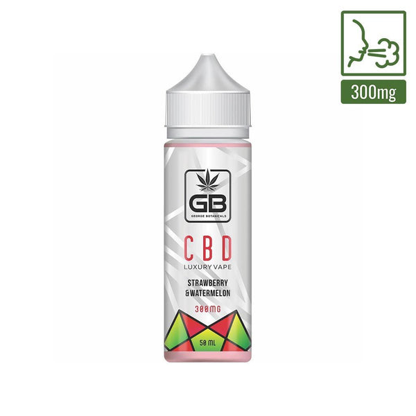 GEORGE BOTANICALS CBD E-LIQUID STRAWBERRY & WATERMELON 200MG - 10ML