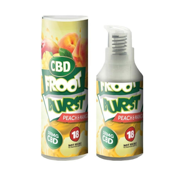 FROOT BURST PEACH & MANGO E-LIQUID 250MG - 15ML