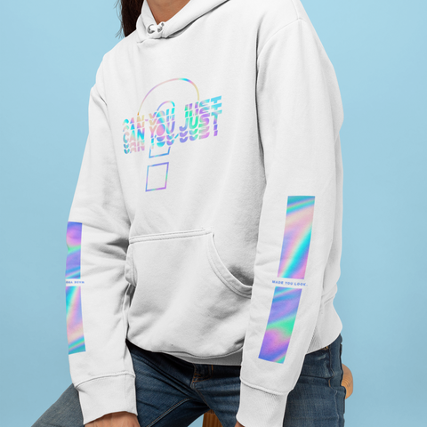 Can you just? Straight Hem Hoodie