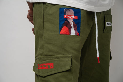 BAD MOUTH Patchwork Cargo Utility Pants