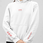 Love Hate Straight Hem Hoodie