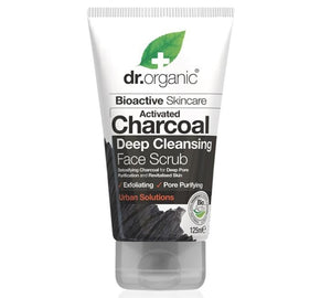 Dr organic charcoal deep cleansing face scrub