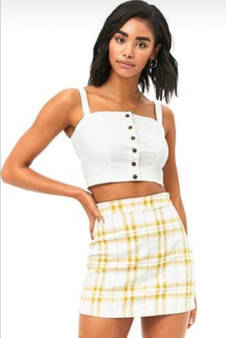 Forever21 skirt- yellow/ white  - large