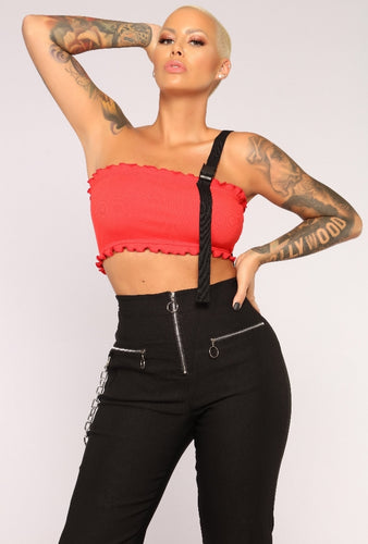 While we're young one shoulder tube top