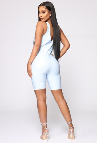Fashionova kristen latex romper