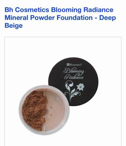 Bh cosmetics blooming radiance 3in1 loose mineral foundation powder