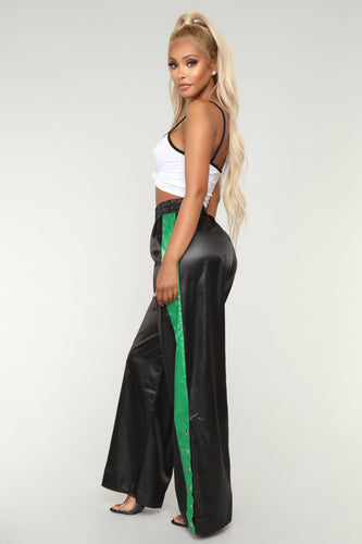 Best In The Game Snap Pants - Black/Green