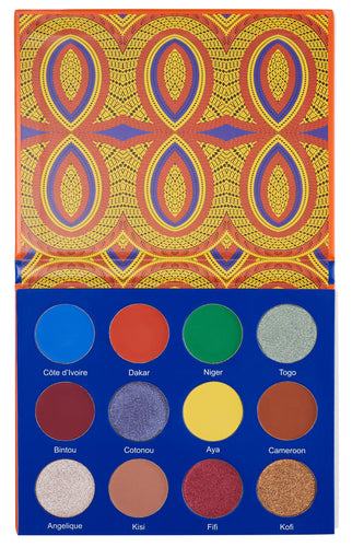 Afrique by juvia eyeshadow palette
