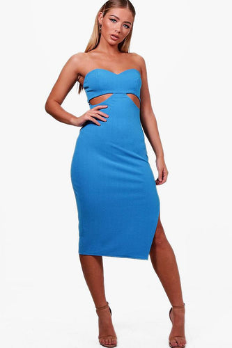 Bandeau cut out side detailed dress