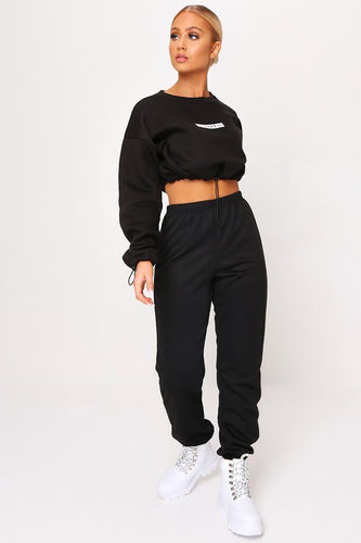 Black Core Loopback Jogger