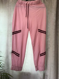 Pink striped jogger