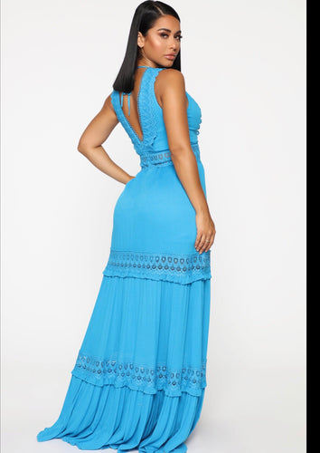 Fashionova who's that girl crochet maxi dress
