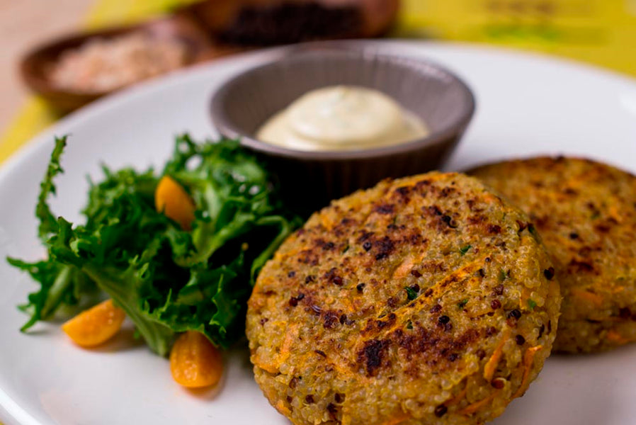 Quinoa Cakes with fresh herbs Aioli