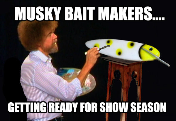 Bob Ross Painting Musky Lures