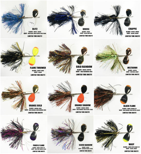 Musky Frenzy Bucktail Colors