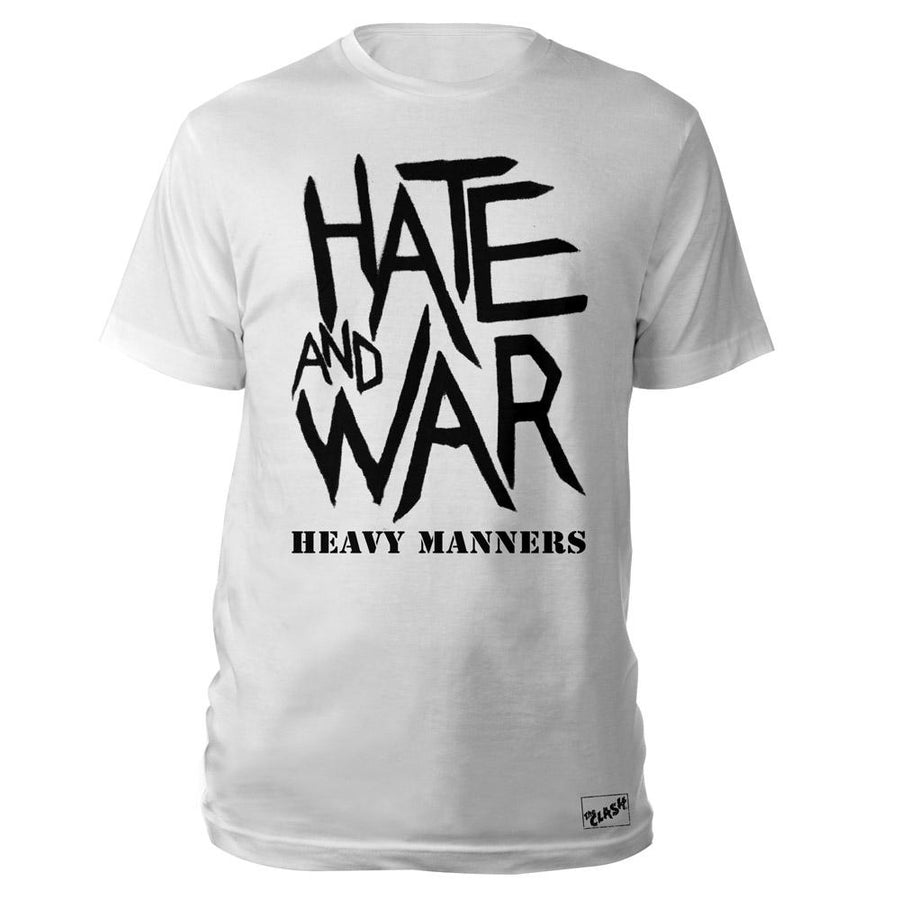 Hate and War White T-Shirt-The Clash